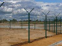Сварной забор,сетка Рубеж 2,0. Сетка сварная оцинкованная с полимерным покрытием.