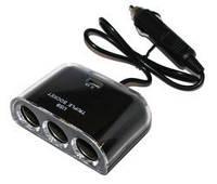 Сетевое зарядное устройство Atcom ES-09 Black хаб 3*DC12 +1*USB