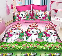 Полуторный детский комплект постельного белья Кошечка Мари
