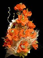 Букет из конфет на подарок девушке Оранжевые мечты