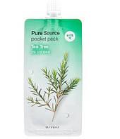 Маска ночная несмываемая чайное дерево MISSHA Pure Source Pocket Pac Tea Tree 10мл, фото 1