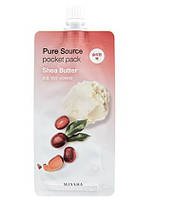 Маска ночная несмываемая с маслом Ши MISSHA Pure Source Pocket Pac Shea Butter 10мл, фото 1