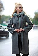 Женское пальто фисташкового цвета на холодную весну, ниже колена, размер 42-52
