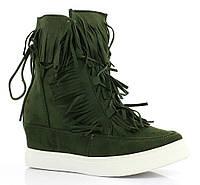 Зелёные,модные женские замшевые сникерсы 36-41
