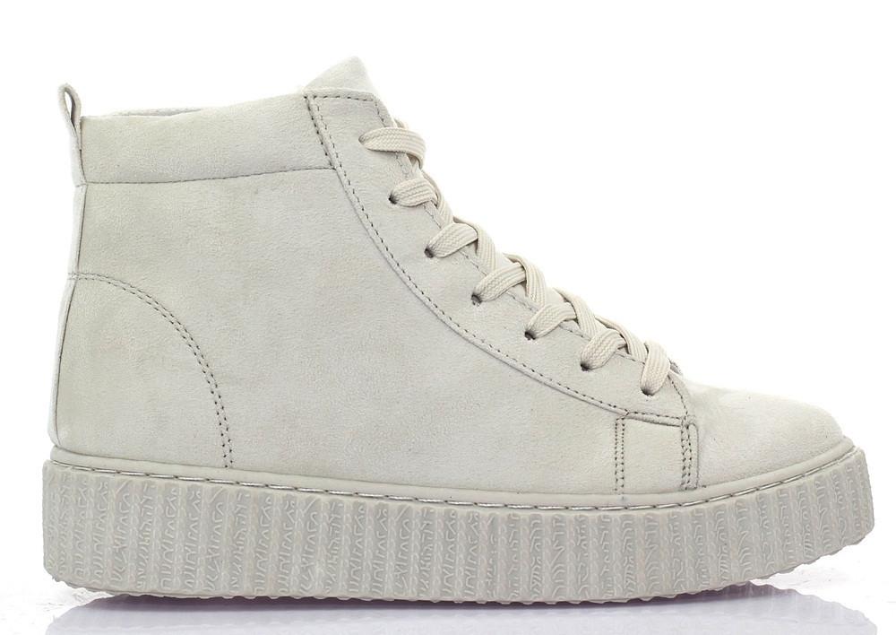 Женские криперсы белого цвета на шнурках