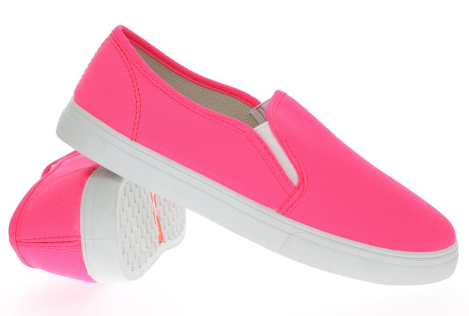 Женские слипоны розового цвета размеры 38-41