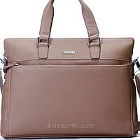 Мужская сумка портфель Kabinias кожа  серо - коричневый