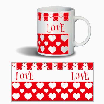 """Керамическая чашка в подарок девушке """"LOVE"""""""