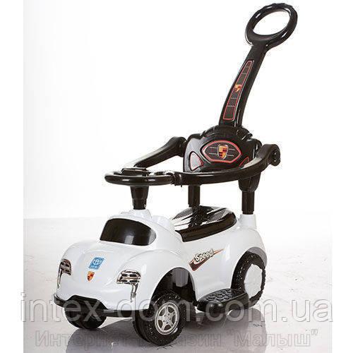 Детская машинка каталка толокар Bambi M 3274-1 музыка родительская ручка колесо 360градусов