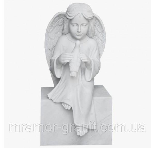 Мраморная скульптура ангелочка С - 146