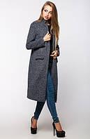 Серое  женское пальто Италия  Leo Pride 44-48 размеры