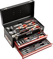 Ящик с инструментами 80 шт., 3-ярусный с 2 шуфлядами YATO YT-38951.