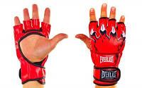 Перчатки для смешанных единоборств MMA PU ELAST BO-3207-R(M) (р.M, красный)
