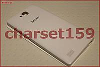 Чехол книжка Huawei Honor 3C flip белый window