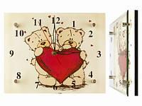 Часы настенные с тихим ходом Мишки с сердцем