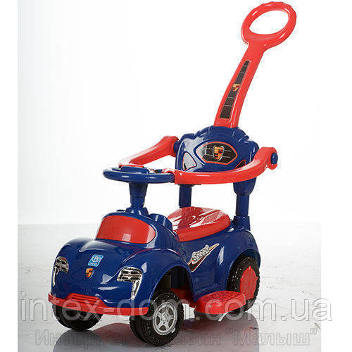 Детская машинка каталка толокар Bambi M 3274-4-3 музыка родительская ручка колесо 360градусов