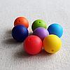 Бусина 19 мм (персик) круглая силиконовая, фото 3