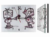 Часы настенные бесшумные Влюбленные роботы
