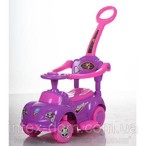 Детская машинка каталка толокар Bambi M 3274-8-9 музыка родительская ручка колесо 360градусов
