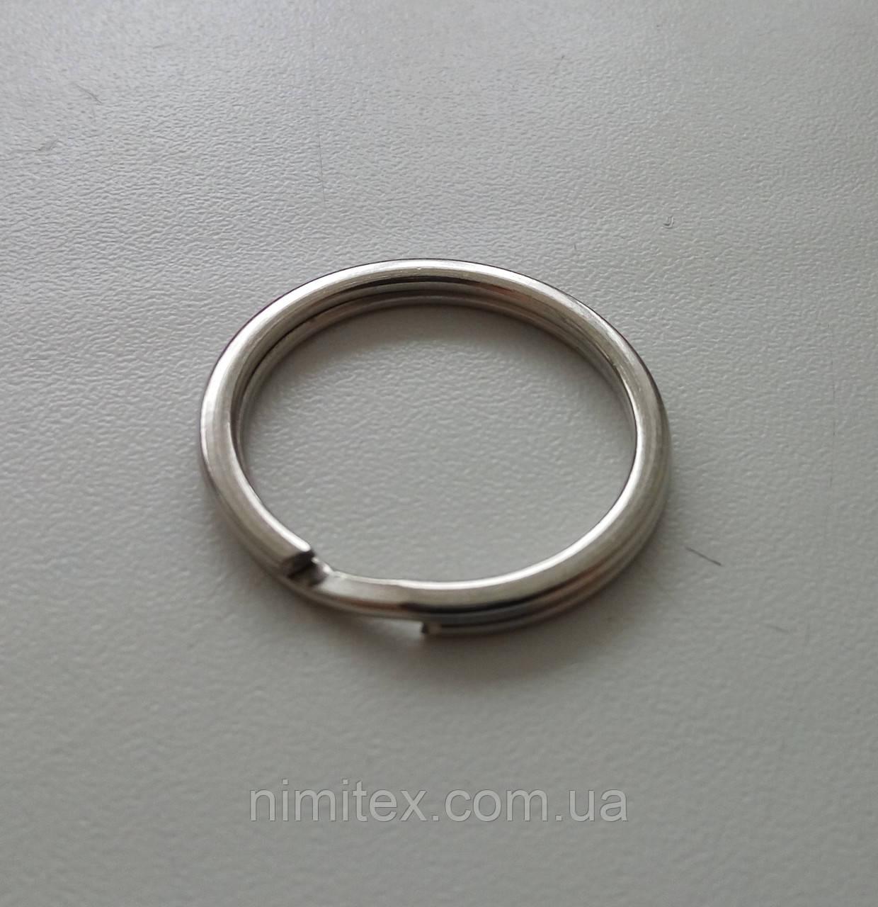 Кольцо плоское для ключей 24 мм никель