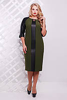 Авантажное платье Монро р. 50-58 оливка