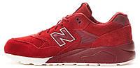 Женские кроссовки New Balance 580 Red (Нью Баланс) красные