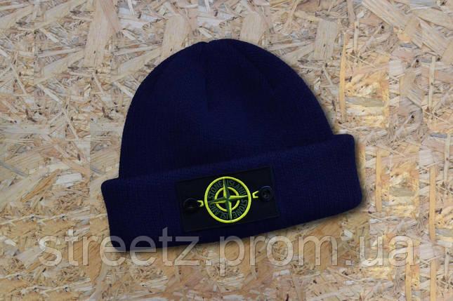 Шапка зимняя  Stone Island Winter Hat with Patch / Стоун Исланд, фото 2