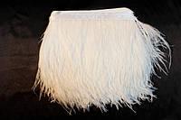 Перьевая тесьма из перьев страуса .Цвета оттенки белого.Цена за 0,5м