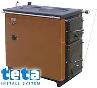 Котел-плита твердотопливный KALVIS-4 регулятор тяги (2 конфорки) 14 кВт