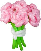 Цветок роза из воздушных шариков