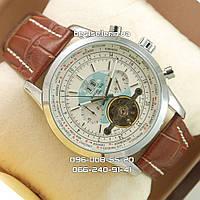 Часы Breitling Transocean Tourbillon silver/white (механика).
