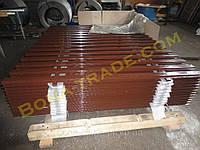 Ограждения из металлического штакетника