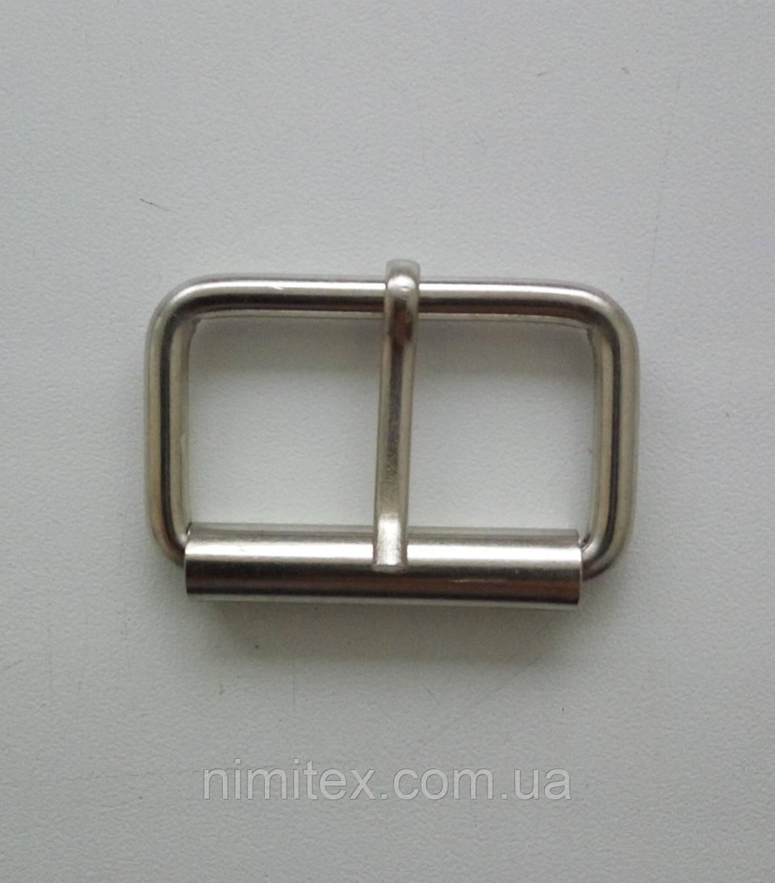 Пряжка лита 35 мм нікель