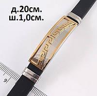 Мужской браслет из каучука и металла  - древнеримский узор, фото 1