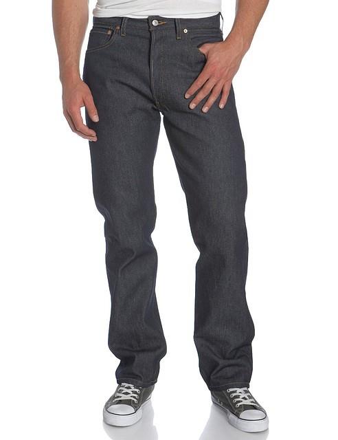 Джинсы мужские Levis Strauss 501 Button Fly Original Jeans Shrink-to-Fit Rigid Indigo
