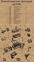 К/т прокладок Д-245 (МТЗ) (ГБЦ безазбестовая с герметиком)