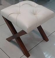 Пуф Х банкетка из массива ясеня с мягким сиденьем