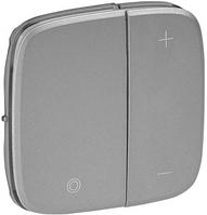 Лицевая панель светорегулятора нажимного алюминий 752087 Legrand Valena Allure