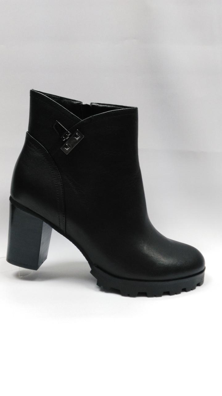 Черные  кожаные ботинки  Еrisses .Большие размеры ( 41 - 43 ). Ботильоны.