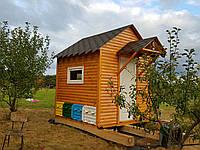 Апи-домик Модель №2 (крыша двухскатная + козырек), фото 1