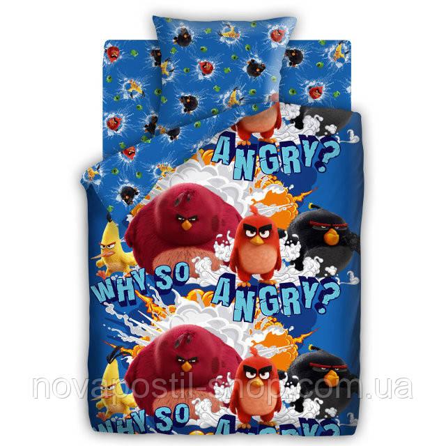Комплект постельного белья Angry Birds Злые Птички  подростковый