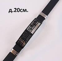 Стильный мужской браслет - металл + каучук, фото 1