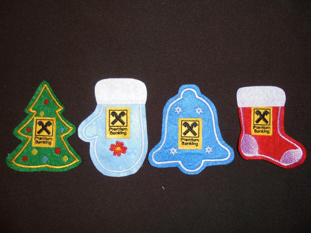 Наборы ёлочных игрушек из фетра  2
