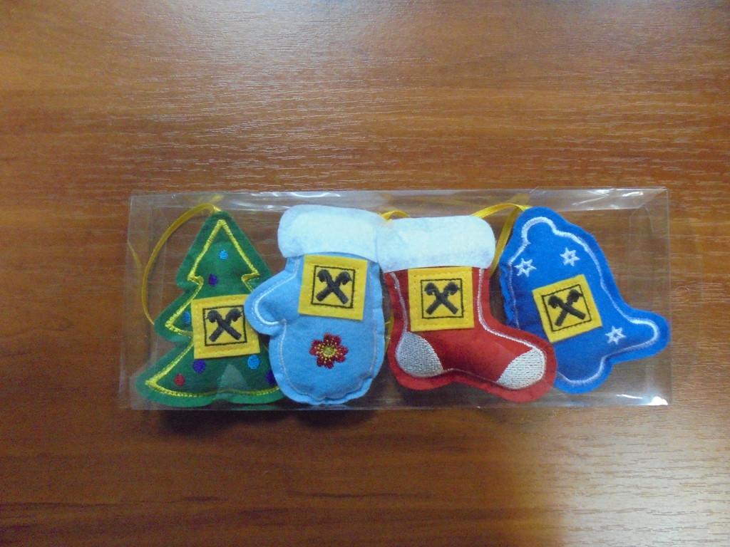 Наборы ёлочных игрушек из фетра  3