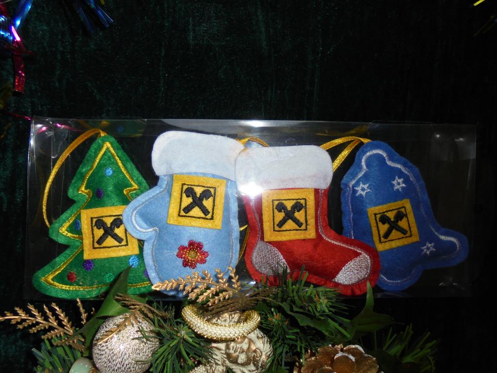 Наборы ёлочных игрушек из фетра  4