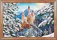Схема для вышивания бисером Зимний замок