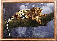 Схема для вышивания бисером Леопард