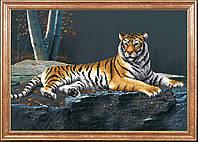 Схема для вышивания бисером Ночной тигр