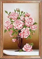 Схема для вышивания бисером Свежие розы