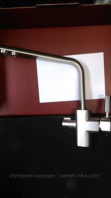 Смеситель для кухни с подключением фильтрованной воды Kern 2052 Inox/ нержавейка